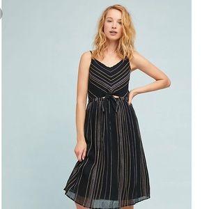 {Michael Stars} Striped Peek-a-boo Midi Dress